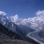 Looking Back at Rush Phari Glacier