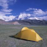 Camping at Karakol Lake