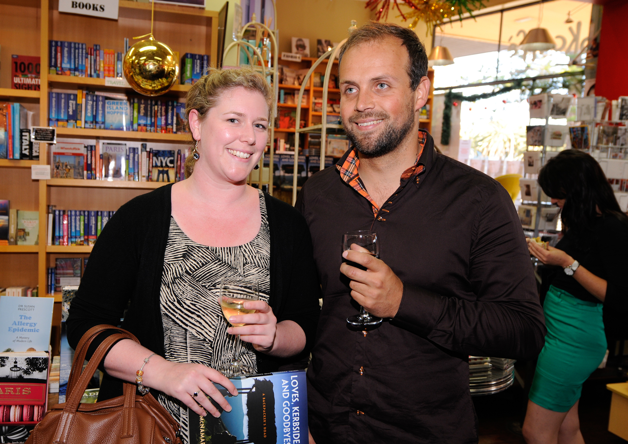Guests Enjoying the Book Launch