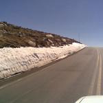 Crossing Beartooth Pass into Wyoming