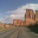 Driving into the Canyonlands