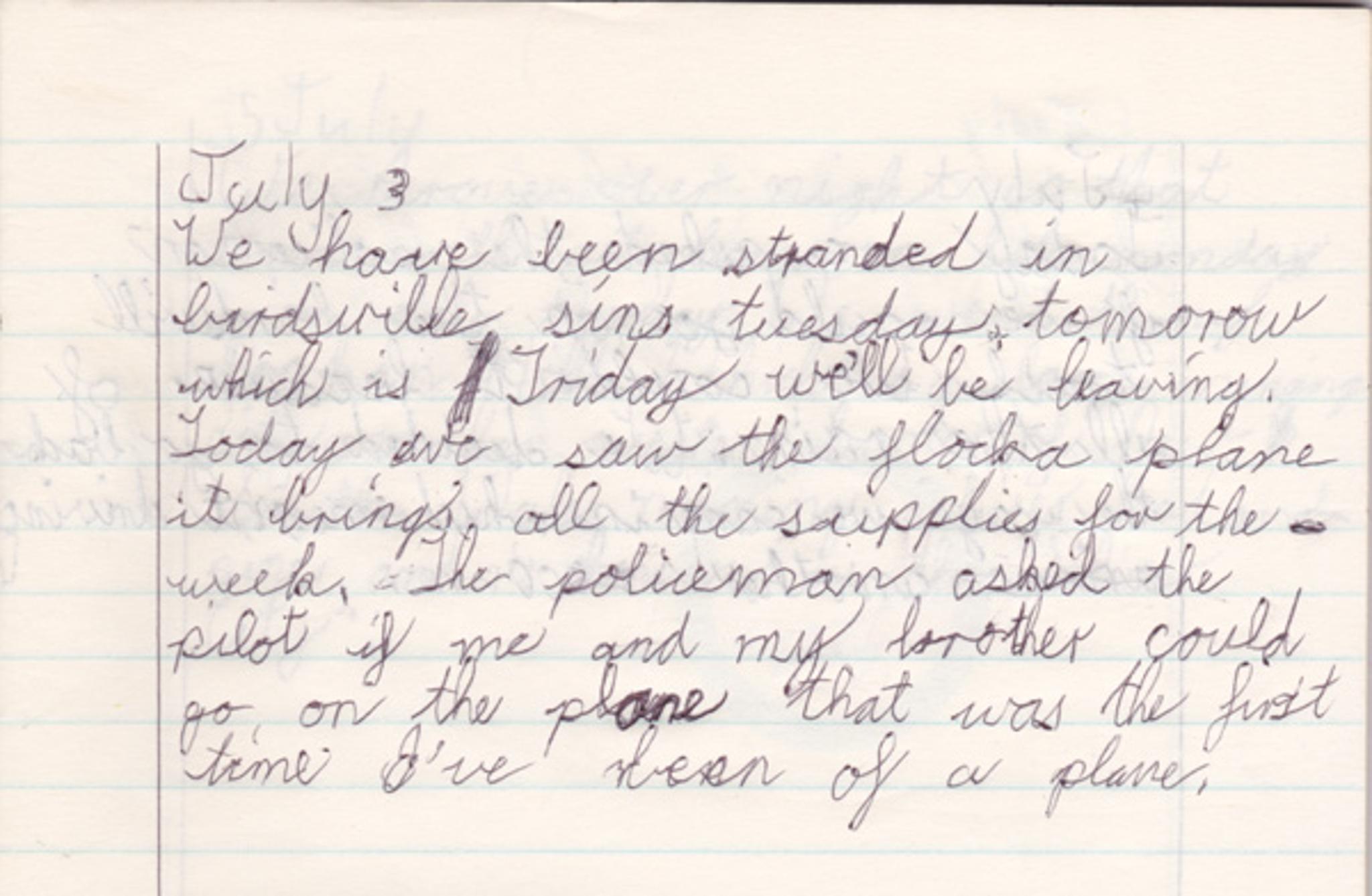 Diary Entry 03-07- 86