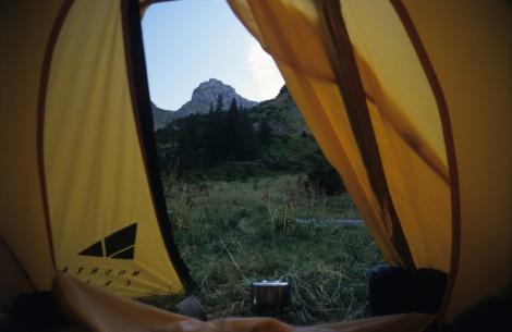 Night's Camp in the Făgăraş Mountains