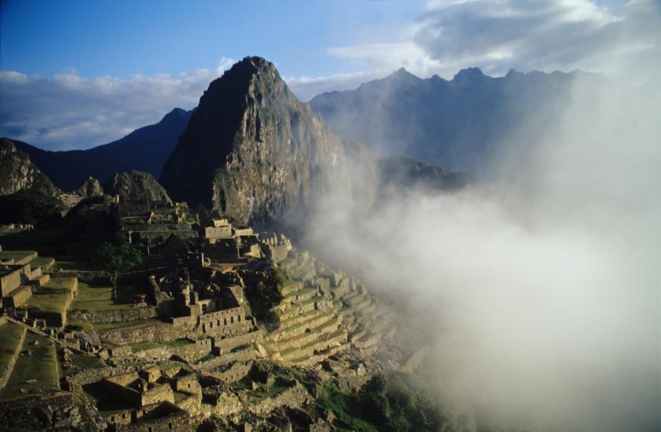 Machu Picchu Through Clouds