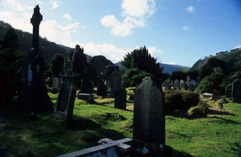 Graveyard on Glendalough Hike