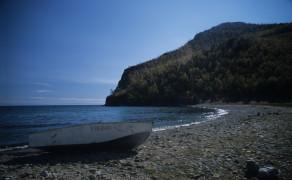 Shores of Olkhon Island on Baikal Lake
