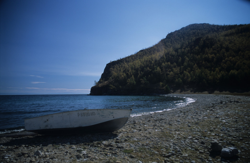 Shores of Olkhon Island on Baikal Lake