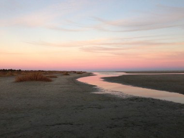 Fushia sunset at Sullivan's Island