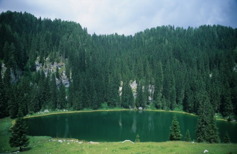Green Lake in the Julien Alps
