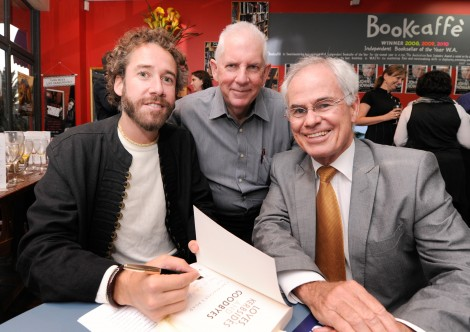 """Host Peter Kennedy Gets a Signed Copy of """"Loves, Kerbsides & Goodbyes"""""""