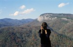 Looking at me looking at you at Looking Glass Rock