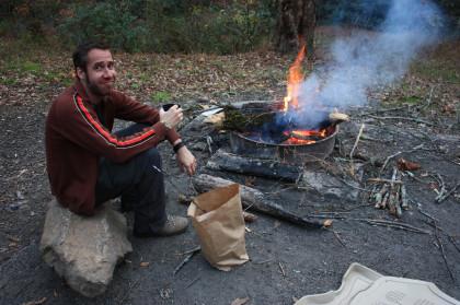 Content Around a Campfire