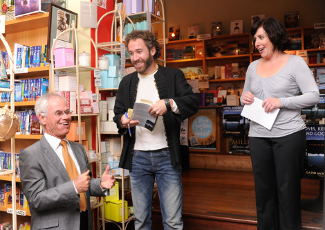 """Peter Kennedy gets the first signed copy of """"Loves, Kerbsides & Goodbyes"""""""