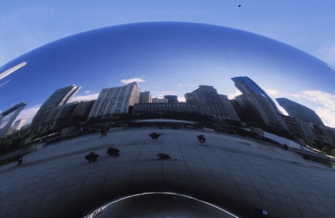 Cloud Gate Reflecting Michigan Ave