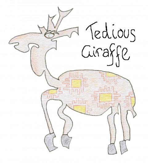 How everyone else saw The Tedious Giraffe