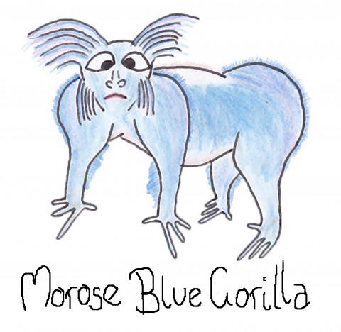 Morose Blue Gorilla