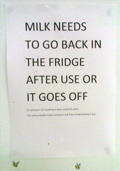 Milk Lives in the Fridge