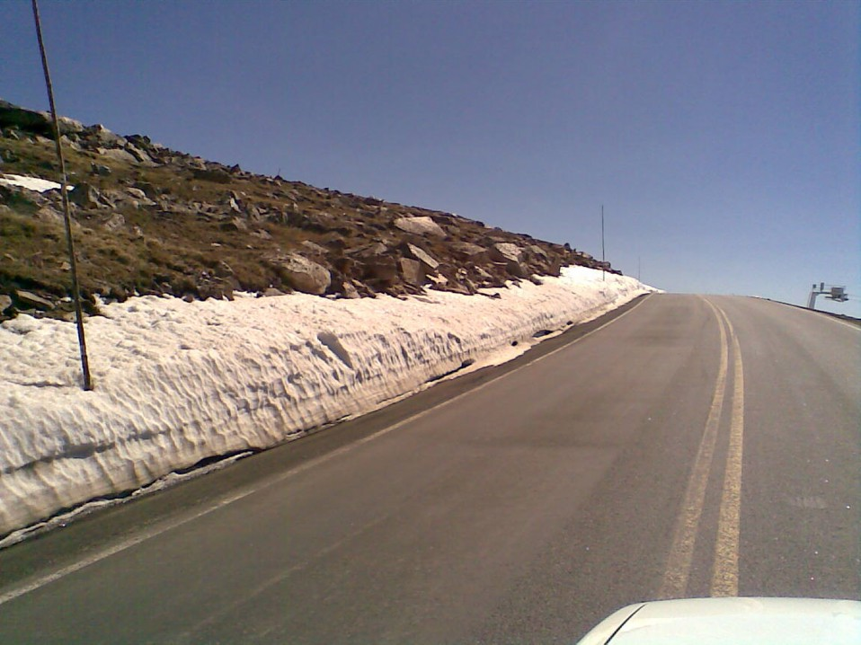 Crossing Beartooth Pass into Wyoming