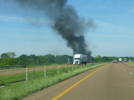 Fire on the Interstate