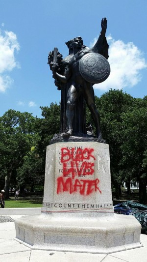 Confederate Defenders of Charleston Statue Defaced