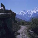 Passing Mani Wall to Langtang Himal