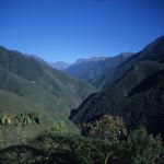 View from El Chorro Inca Trail