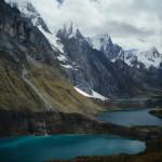 Lakes on Cordillera Huaywash Trek