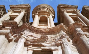 Looking Up at the Temple of el Deir