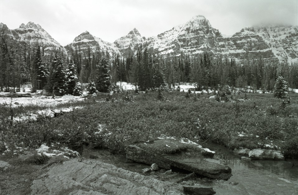 Canadian Rockies in Black & White