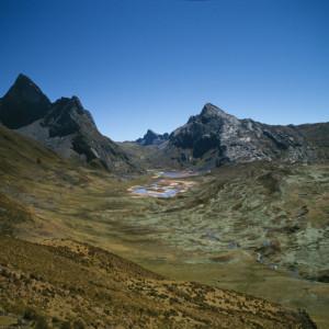 Cordillera Huayhuash in Sunlight