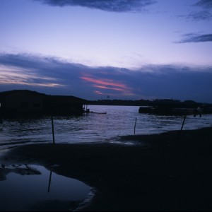On the Rio Amazonas After Dark