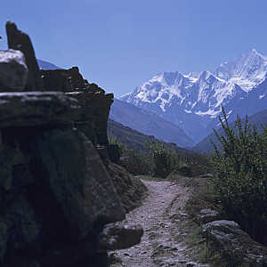 Passing Mani Wall to Langtang Himal