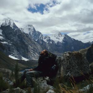 A Well-Earned Break Hiking in the Cordillera Huayhuash