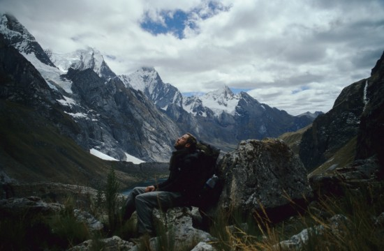 A Well-Earned Break Hiking in the Cordillera Huayhuash