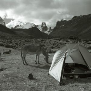 Pitching Camp in the Cordillera Huayhuash