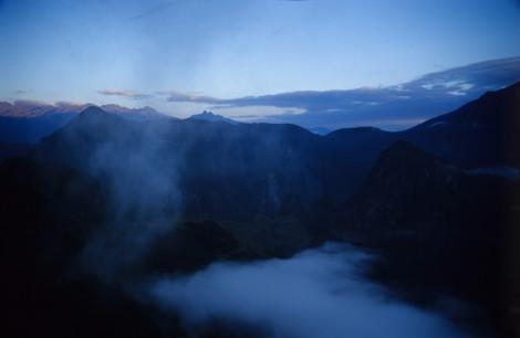 Predawn atop Machu Picchu