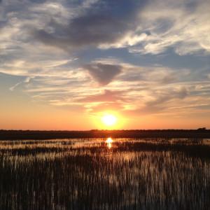 Sunset On The Way To Sullivan's Island