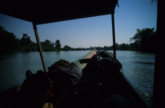 Travelling on the Meakong River to Don Det
