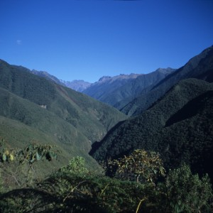 View from El Chorro Inca Trail