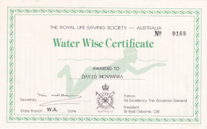 Water Wise Certificate