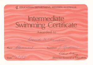 Intermediate Swimming Certificate (2)