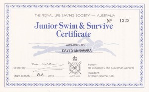 Junior Swim & Survive Certificate (2)