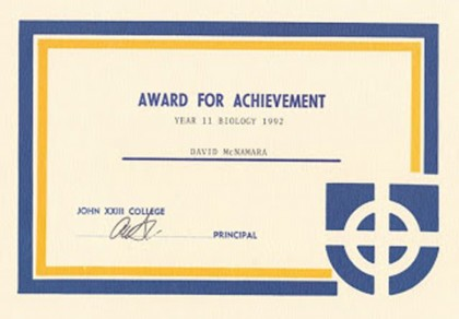 Biology Award 1992