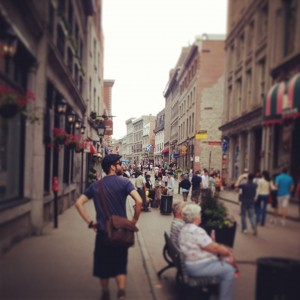 On the Streets of Old Montréal