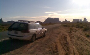 Roadside View of Monument Valley