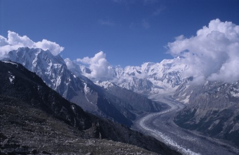 Looking Back at Rush Phari Glacier