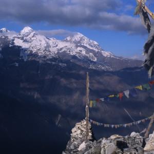Prayer Flags Atop Langtang Trek Summit